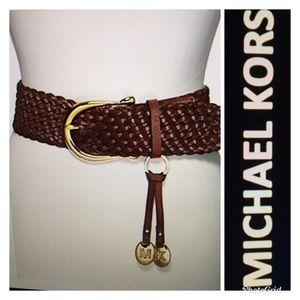 🌾NWT MICHAEL KORS LEATHER BRAIDED BELT 🌾